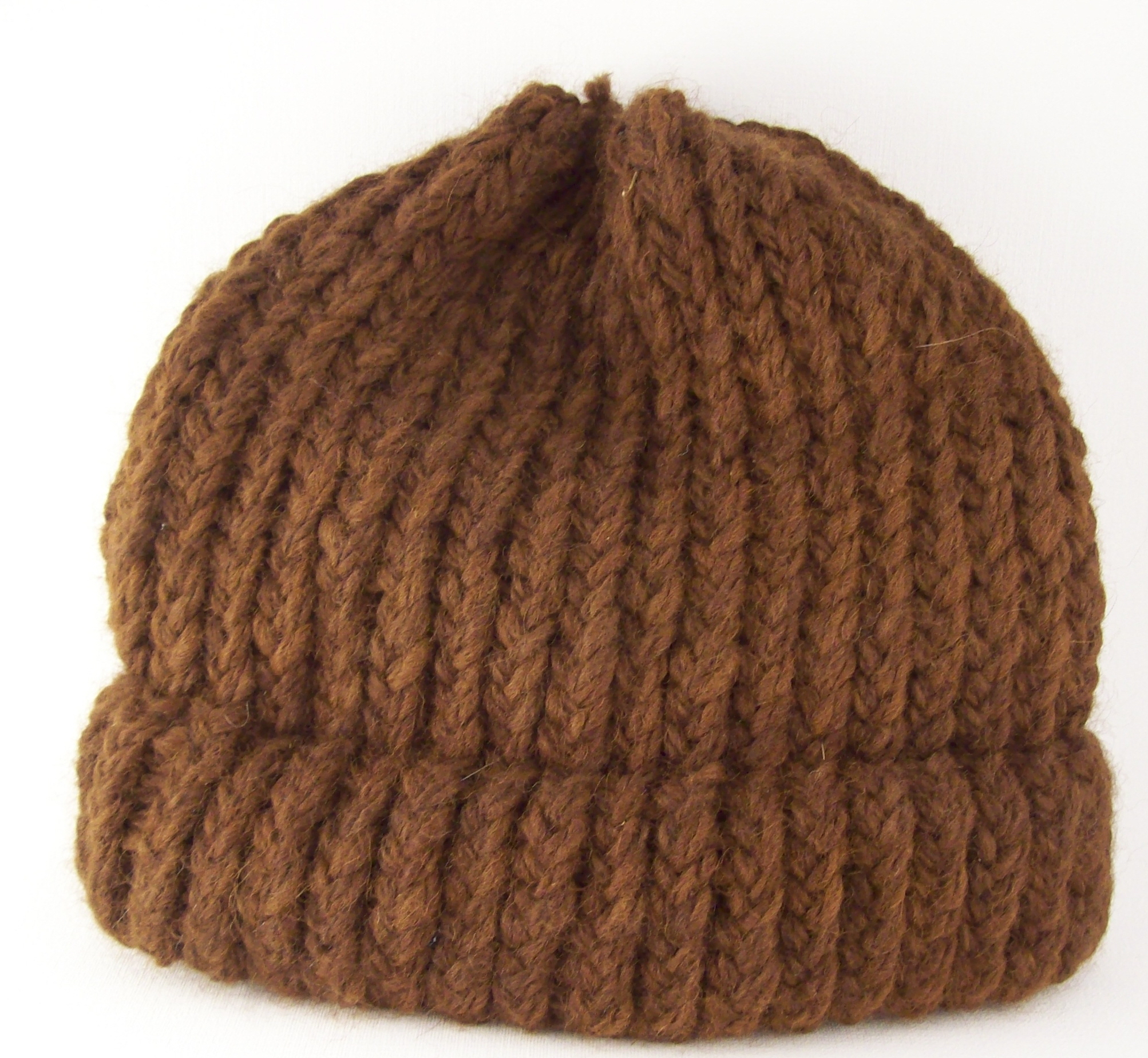 Brown-Knit-Hat